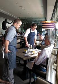 Los chefs en servicio
