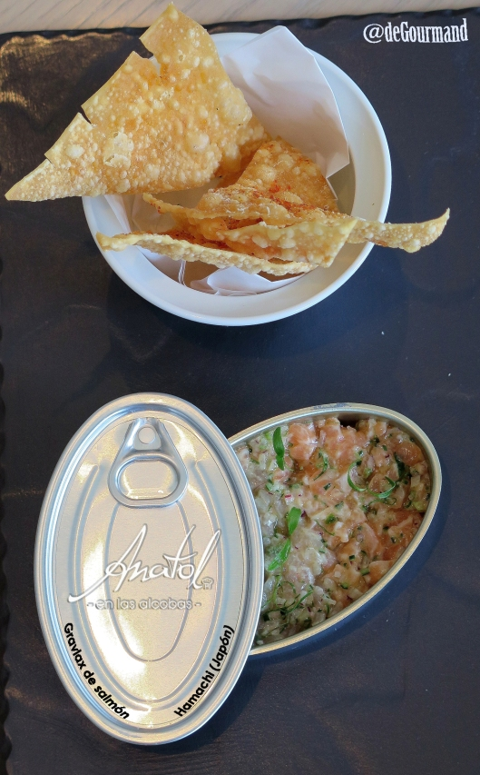 Tartar de hamachi y salmón -9