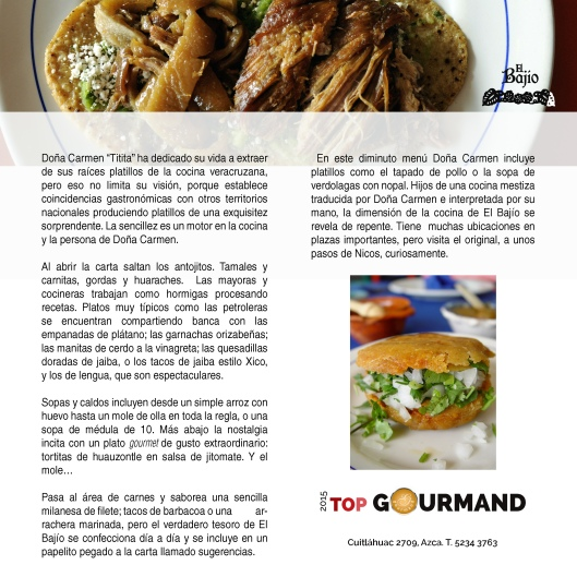 top gourmand el bajio