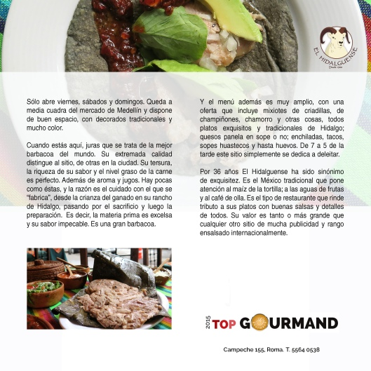 top gourmand el hidalguense