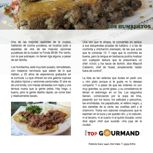 top gourmand humbertos