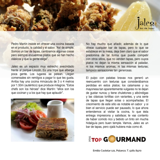 top gourmand jaleo
