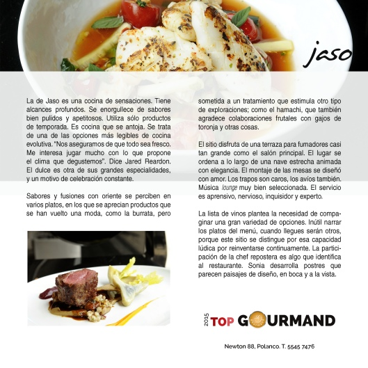 top gourmand jaso
