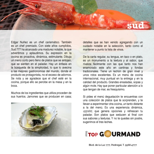 top gourmand sud777