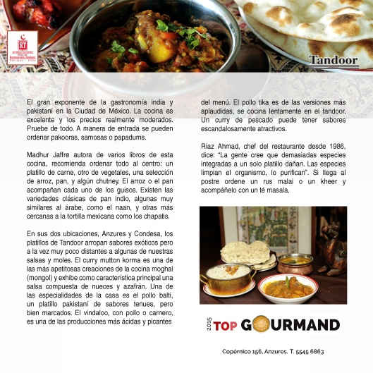 top gourmand tandoor